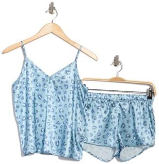 Cozy Rozy Morgan Printed Satin Cami & Shorts 2-Piece Pajama Set
