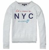 Tommy Hilfiger Girls Rib Front Cn Sweater L/S