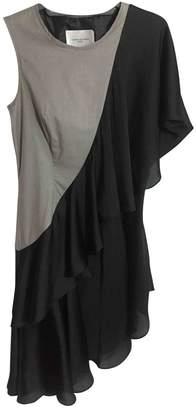 Lungta de Fancy Multicolour Silk Dress for Women