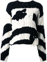 Jay Ahr patched striped pullover