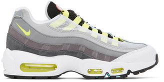 Nike Grey and Multicolor Mismatched Air Max 95 Sneakers