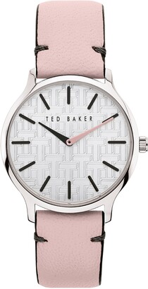 Ted Baker Women's Poppiey Leather Strap Watch, 38mm