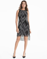 White House Black Market Woven Overlay Dress