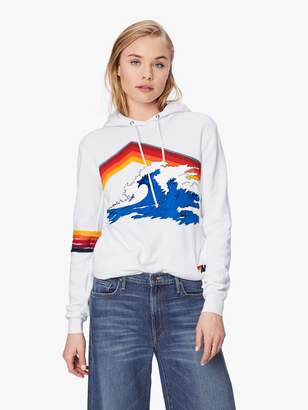Aviator Nation Mountain Wave Pullover Hoodie - White
