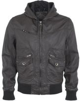 River Island Mens Brown leather jacket