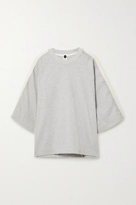 Bassike Net Sustain Organic Cotton-jersey Top - Gray
