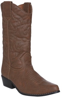 Wet Seal WetSeal Embroidered Cowboy Boots Cognac