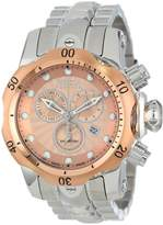 Invicta Men's 10797 Venom Analog Display Swiss Quartz Silver Watch