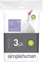 Simplehuman Custom Fit Trash Can Liners Code G - 60-Pack