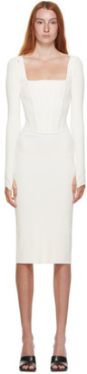 Dion Lee White Pointelle Corset Tank Top Dress