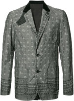 Sacai patterned jacket - men - Cotton/Cupro - 2