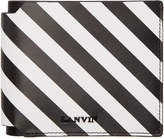 Lanvin Black and White Striped Wallet