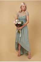 Thumbnail for your product : Little Mistress Bridesmaid Elise Waterlily Hand-Embellished Sequin Hi-Low Prom Dress
