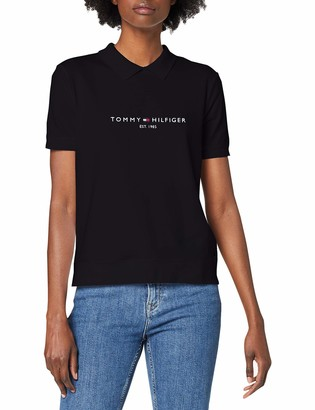 Tommy Hilfiger Women's Logo Zip Polo SS Shirt