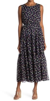 MelloDay Floral Tiered Maxi Dress