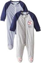Gerber 2 Pack Sleep N' Play - Baseball (Baby) - Blue-3-6 Months