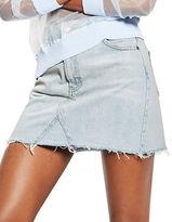 Topshop MOTO Bleach Denim Mini Skirt