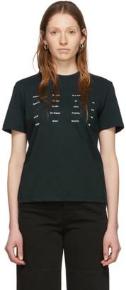 Proenza Schouler Black White Label Address Logo T-Shirt