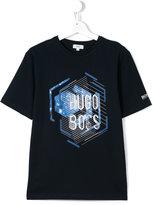Boss Kids - logo print T-shirt - kids - Cotton - 14 yrs