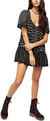 Free People Hearts Desire Printed Tunic (Black) Women's Clothing