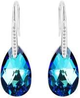 EleQueen 925 Sterling Silver CZ Teardrop Hook Earrings Adorned with Swarovski® Crystals