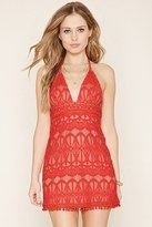 Forever 21 FOREVER 21+ Ornate Lace Halter Dress