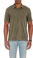 James Perse Men's Jersey Polo Shirt-DARK GREEN