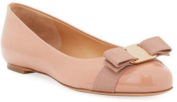 Salvatore Ferragamo Varina Patent Ballet Flats, New Blush