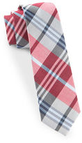 The Tie Bar Crystal Wave Plaid Silk Blend Tie
