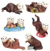 Summit Sea Otters (Set of 6) - Collectible Figurine Statue Sculpture Figure