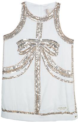 Roberto Cavalli White Sequin Embellished Sleeveless Dress 13 Yrs