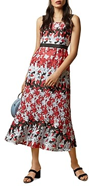 Ted Baker Telily Printed Lace Midi Dress