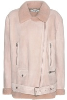 Acne Studios Exclusive to mytheresa.com – More shearling-lined suede jacket
