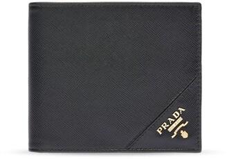 Prada Saffiano Logo-Lettering Wallet