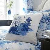 Kaleidoscope Chinoiserie Square Filled Cushion