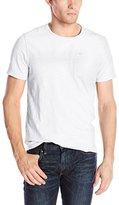 Calvin Klein Jeans Men's Short Sleeve Crew Neck Mix Media Top