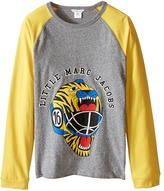 Little Marc Jacobs Long Sleeve Hockey Illustration Tee Shirt Boy's T Shirt