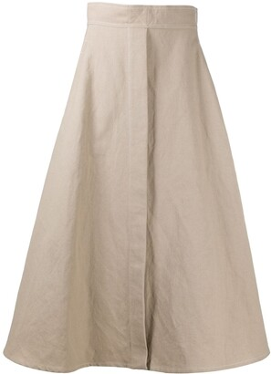 Lemaire Rear-Pleat Detail Skirt