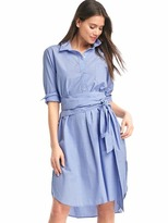 Gap Front-tie midi shirtdress