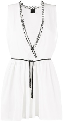 Pinko Sleeveless V-Neck Blouse