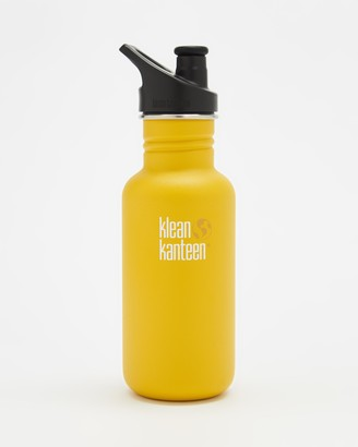 Klean Kanteen Yellow Water bottles - 18oz Classic Sport Cap Bottle - Size One Size at The Iconic
