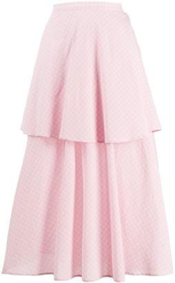 Sara Lanzi Tiered Flared Skirt