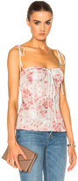 Brock Collection Tabitha Top in Gray,Pink,Floral.