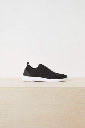 French Connection Nelly Knitted Lace Up Trainers