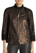 Lafayette 148 New York Garrison Textured Jacket