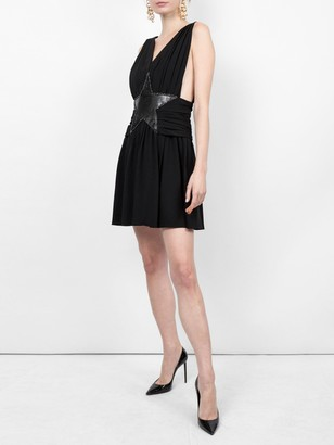 Saint Laurent Star Applique Mini Dress
