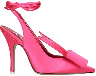 ATTICO The Slingback Sandals In Rose-pink Tech/synthetic