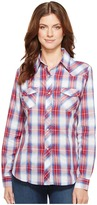 Roper 1028 Royal, Red and White Plaid Women's Clothing
