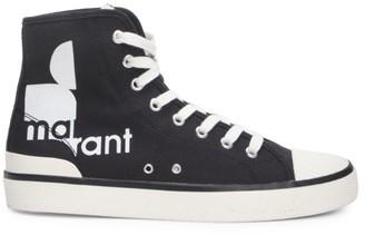 Isabel Marant Benkeen Logo Canvas Sneakers