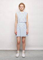Band Of Outsiders Lattice Applique Suspender Skirt